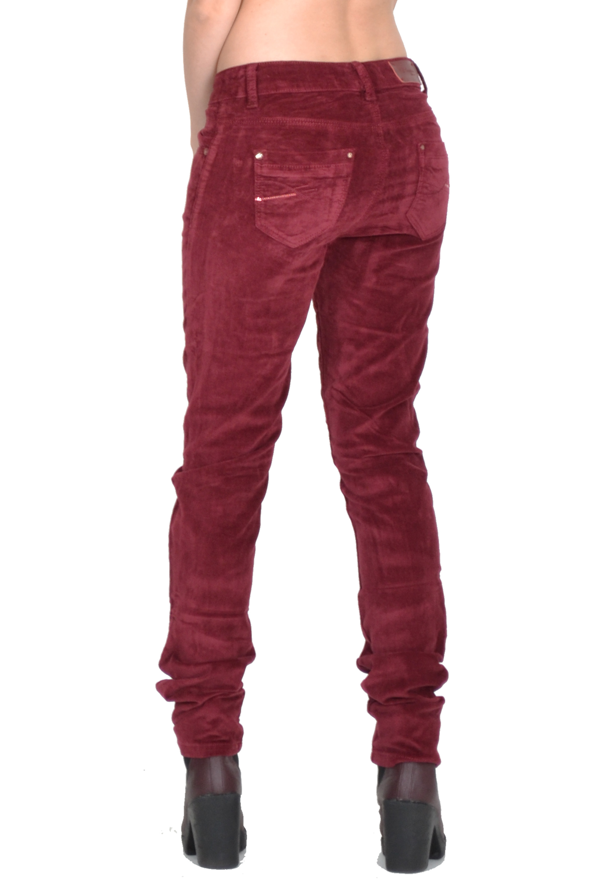 New Ladies Womens Slim Skinny Fitted Stretchy Red Cords ...