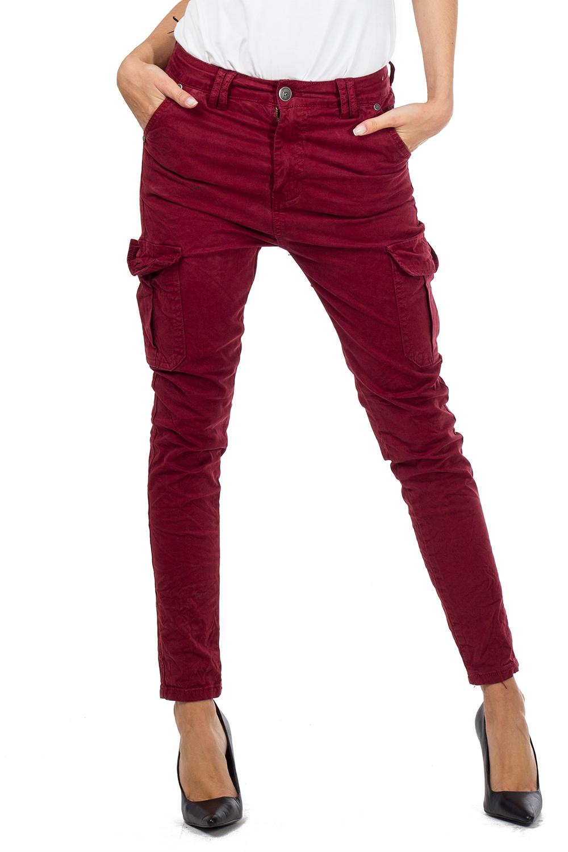 Red Black Creased Cotton Slim Leg Cargo Combat Pants Trousers Brown /& Khaki
