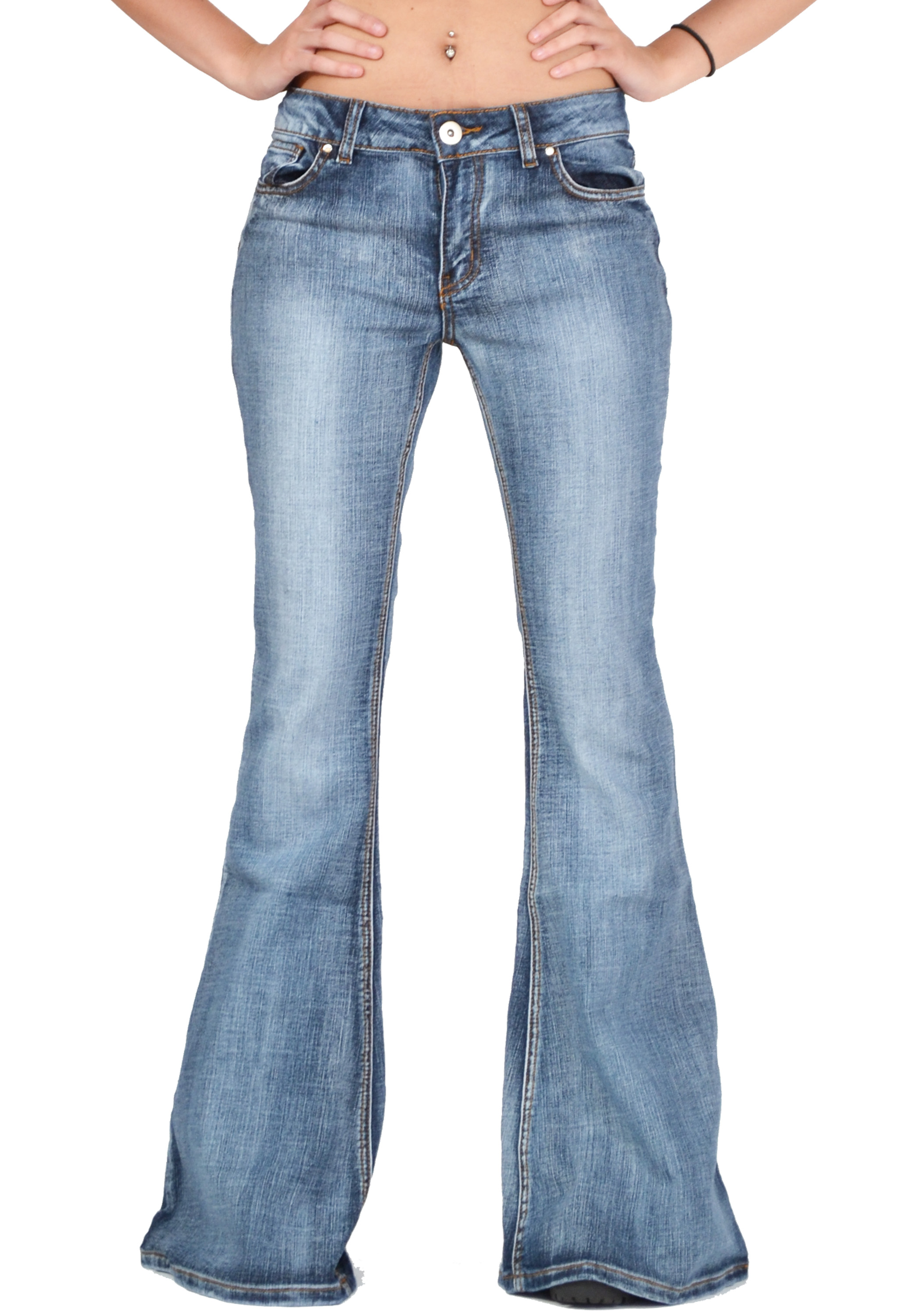 Womens Kick Flare Jeans