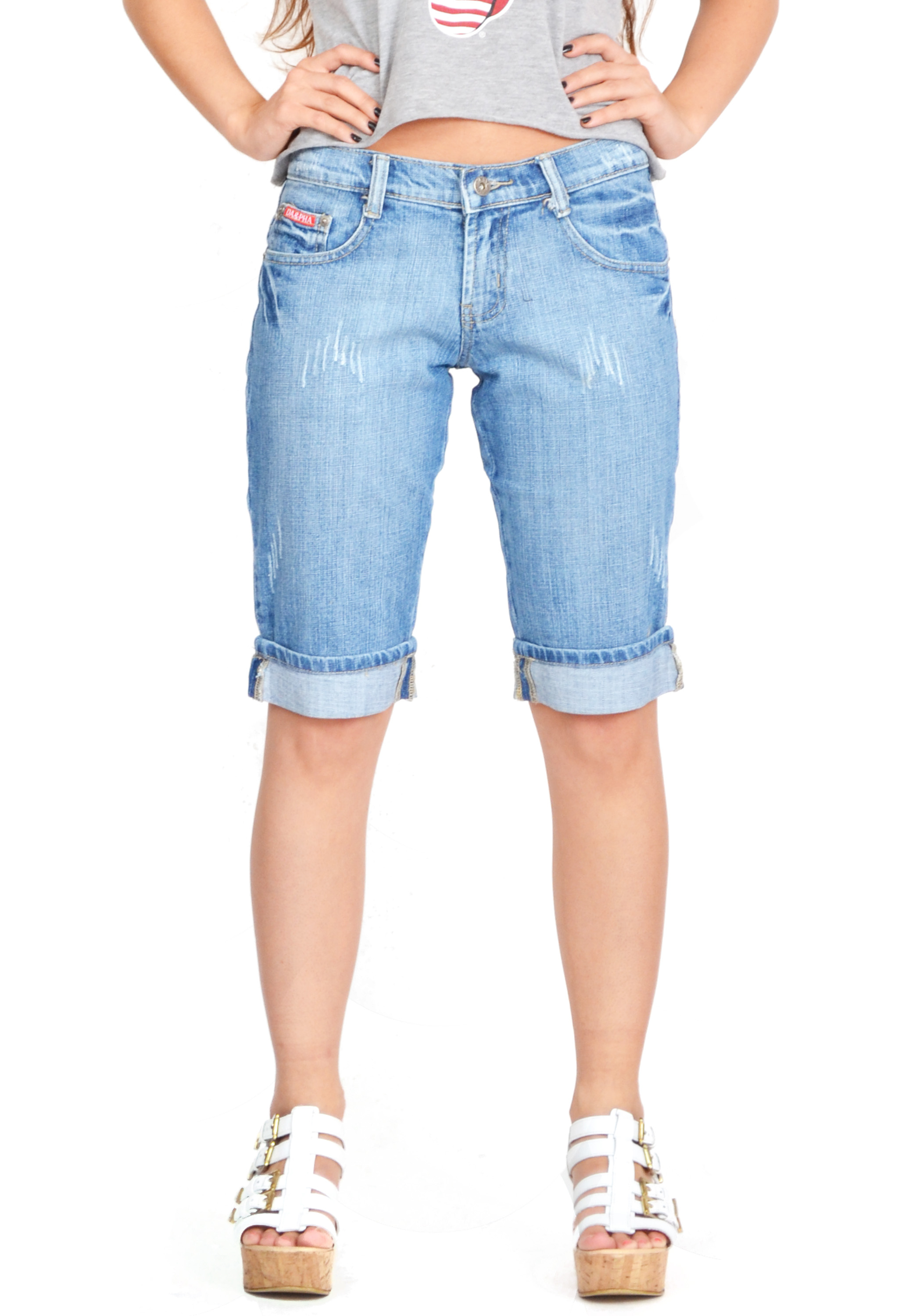 Long Denim Shorts For Women - The Else