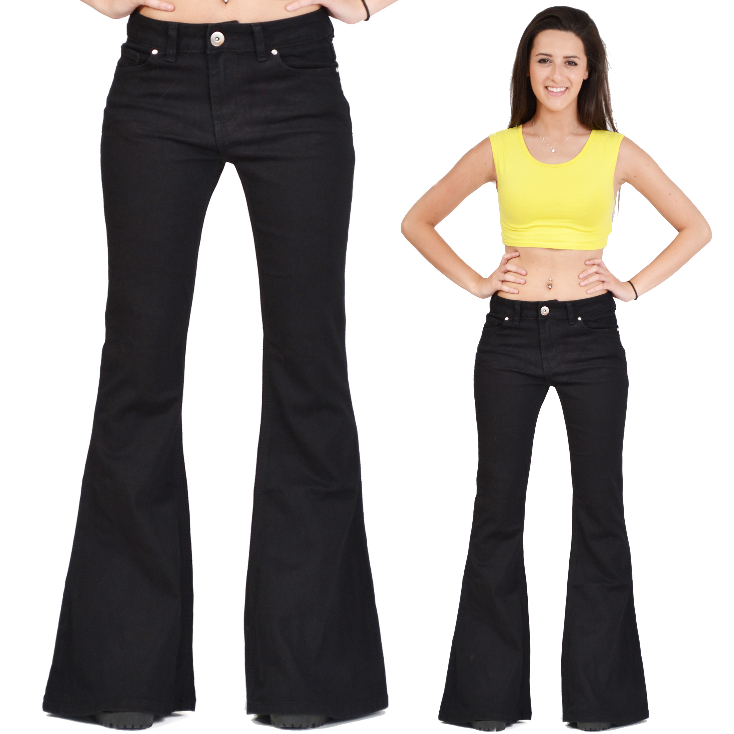 Fitted flare pants by AQUA flatter your waistline and create a soft silhouette. No matter the venue, wide-leg pants for women complement an active, contemporary active lifestyle. Count on flare pants for women to effortlessly pull together a chic, polished outfit that gets you noticed.