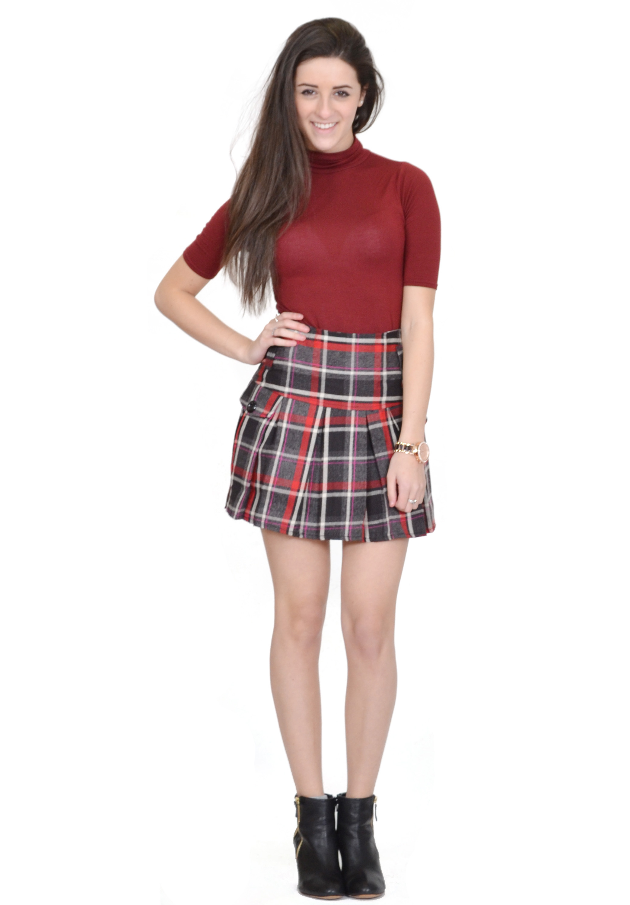 A Line Skirt Mini Skirt - High Waisted Skirts Skater Skirt - Summer Skirts Women Short Skirt - Skirts Women Pleated £ - £ KK Fashion Lines Ladies Tartan Box Pleated Skirt.