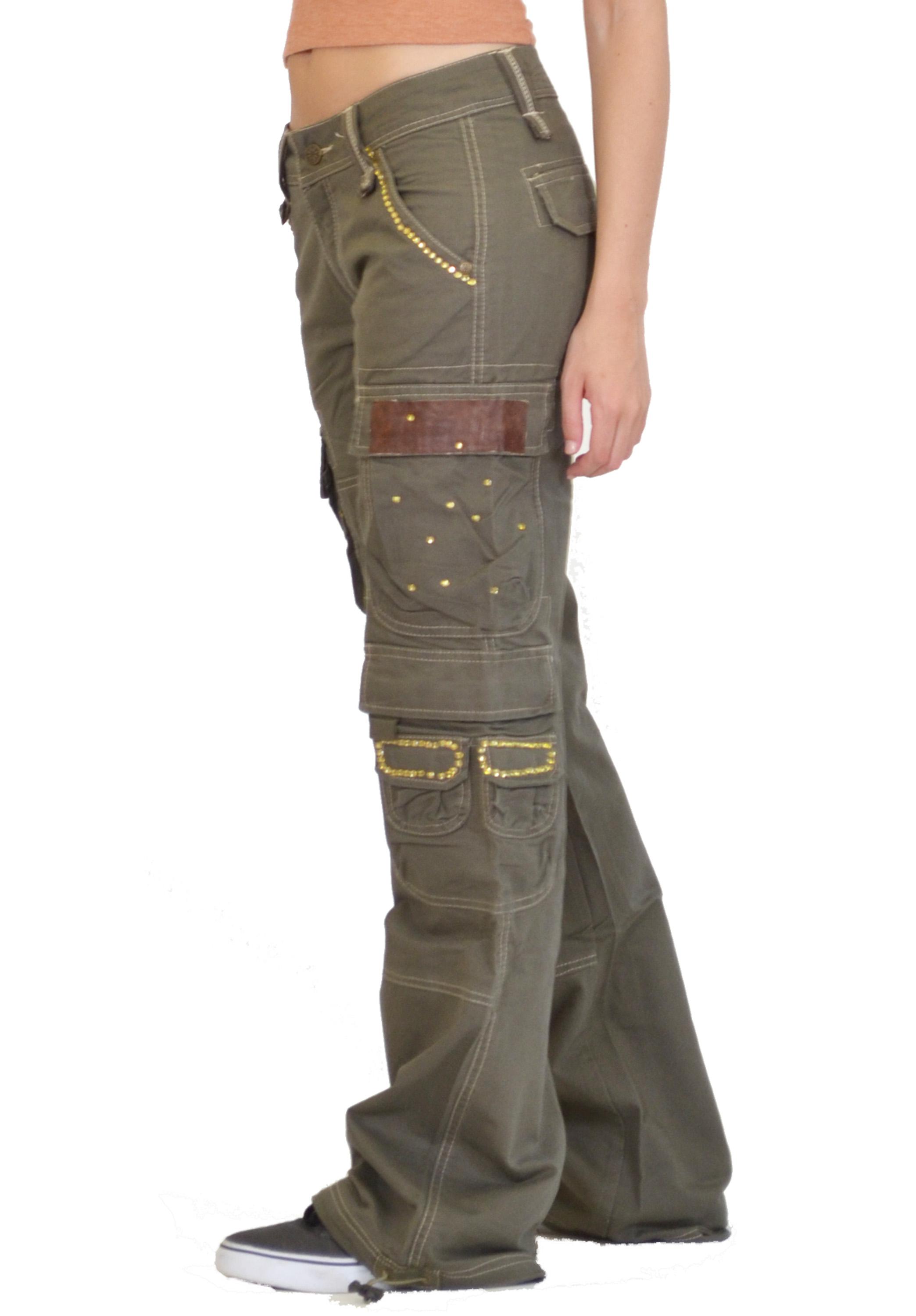 Model Stretch Cargo Pants By Flashlights  Look Again