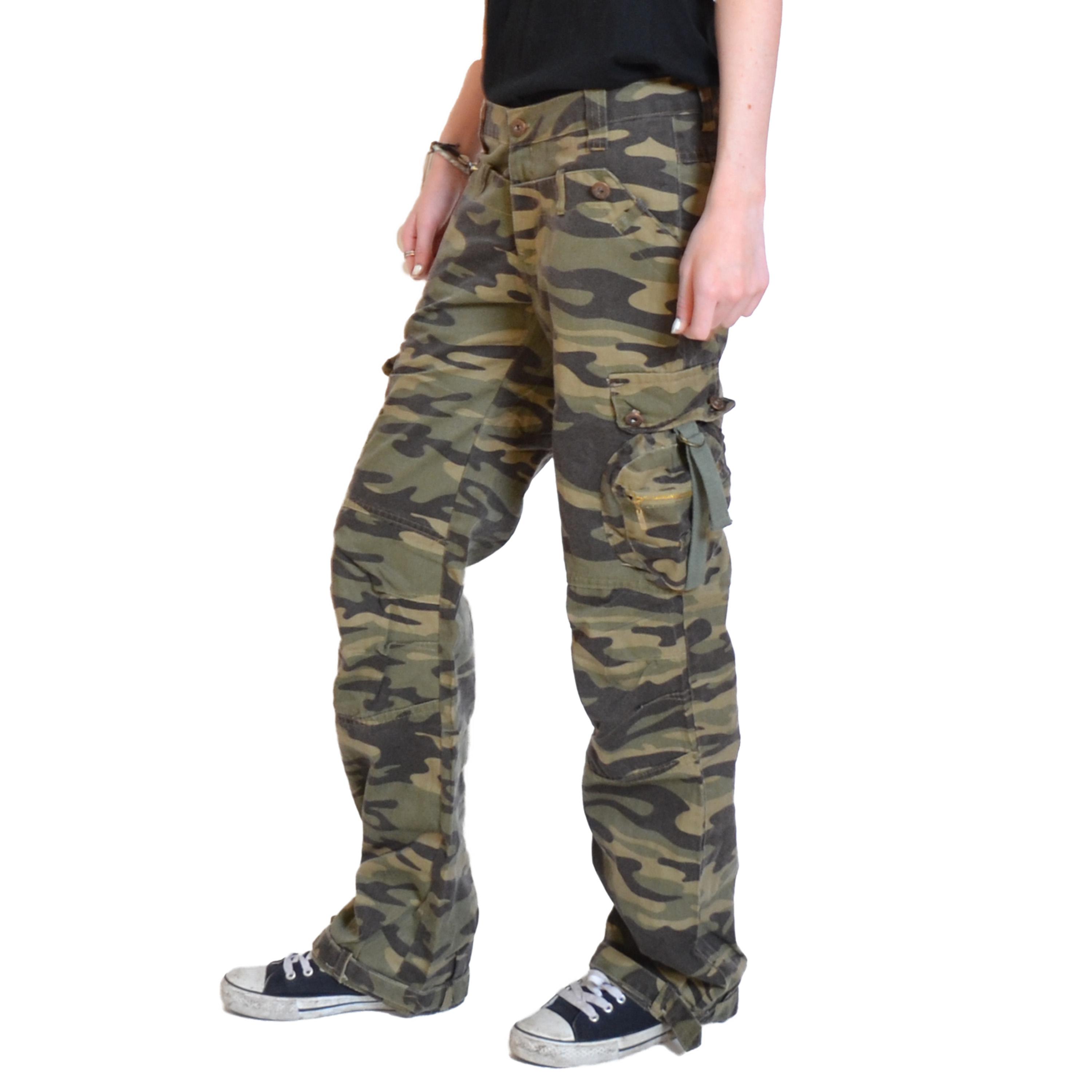 Original Womens Military Olive Green Cargo Pants The Army Olive Green Cargo