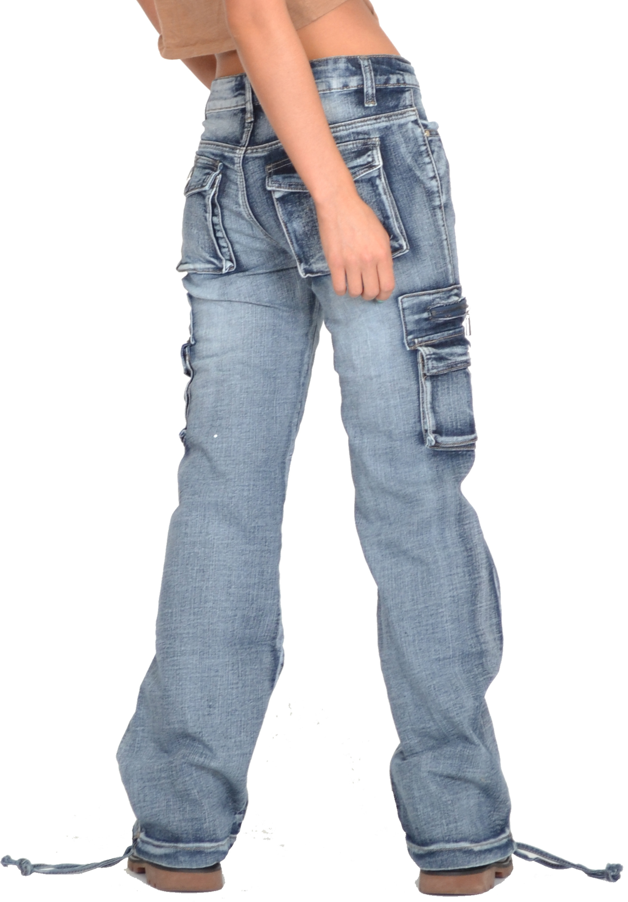Womens Jeans With Back Flap Pockets