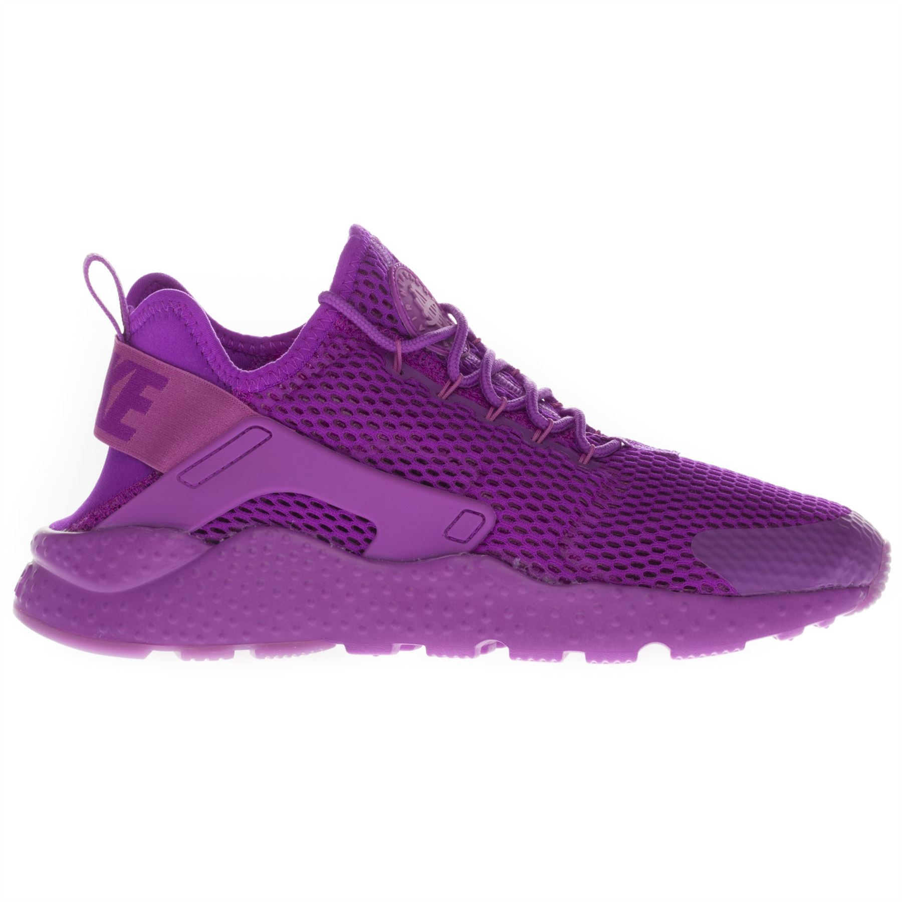 Nike-Women-039-s-Air-Huarache-Run-Ultra-Low-Top-Running-Sports-White-Purple-Trainers