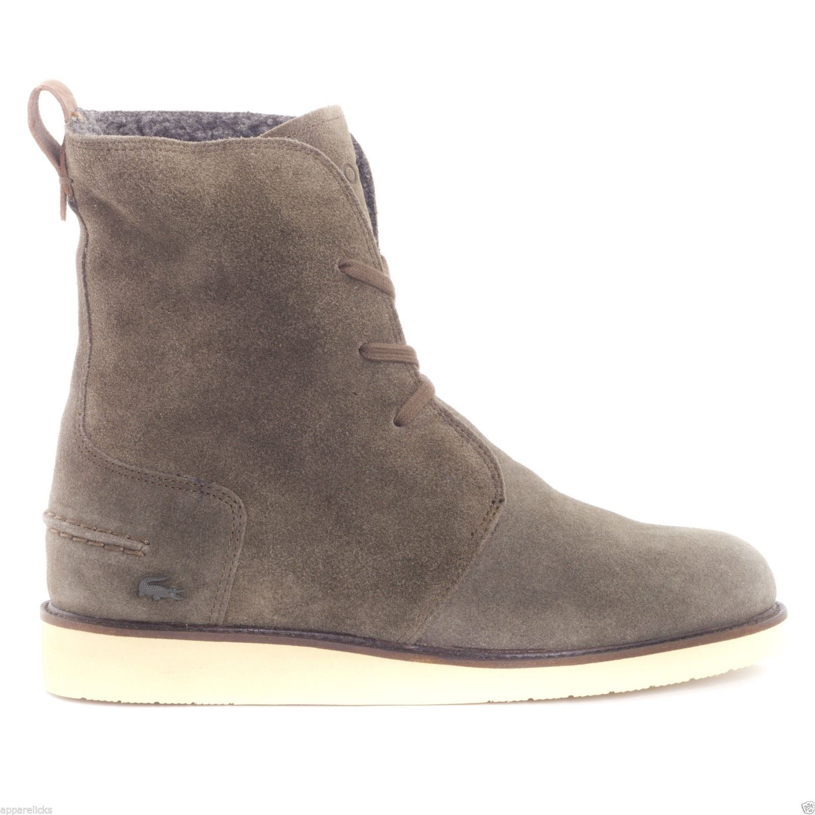 Perfect Lacoste Women39s Baylen Lace Up Boot High Shaft Suede Faux Fur Lining