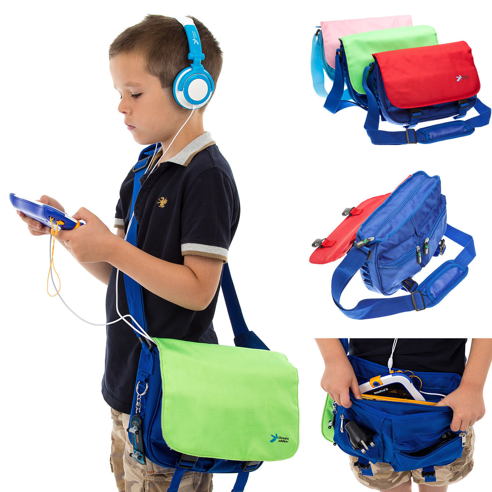 School bag for year 7 - Kids Messenger Satchel School Bag Dj Headphones For