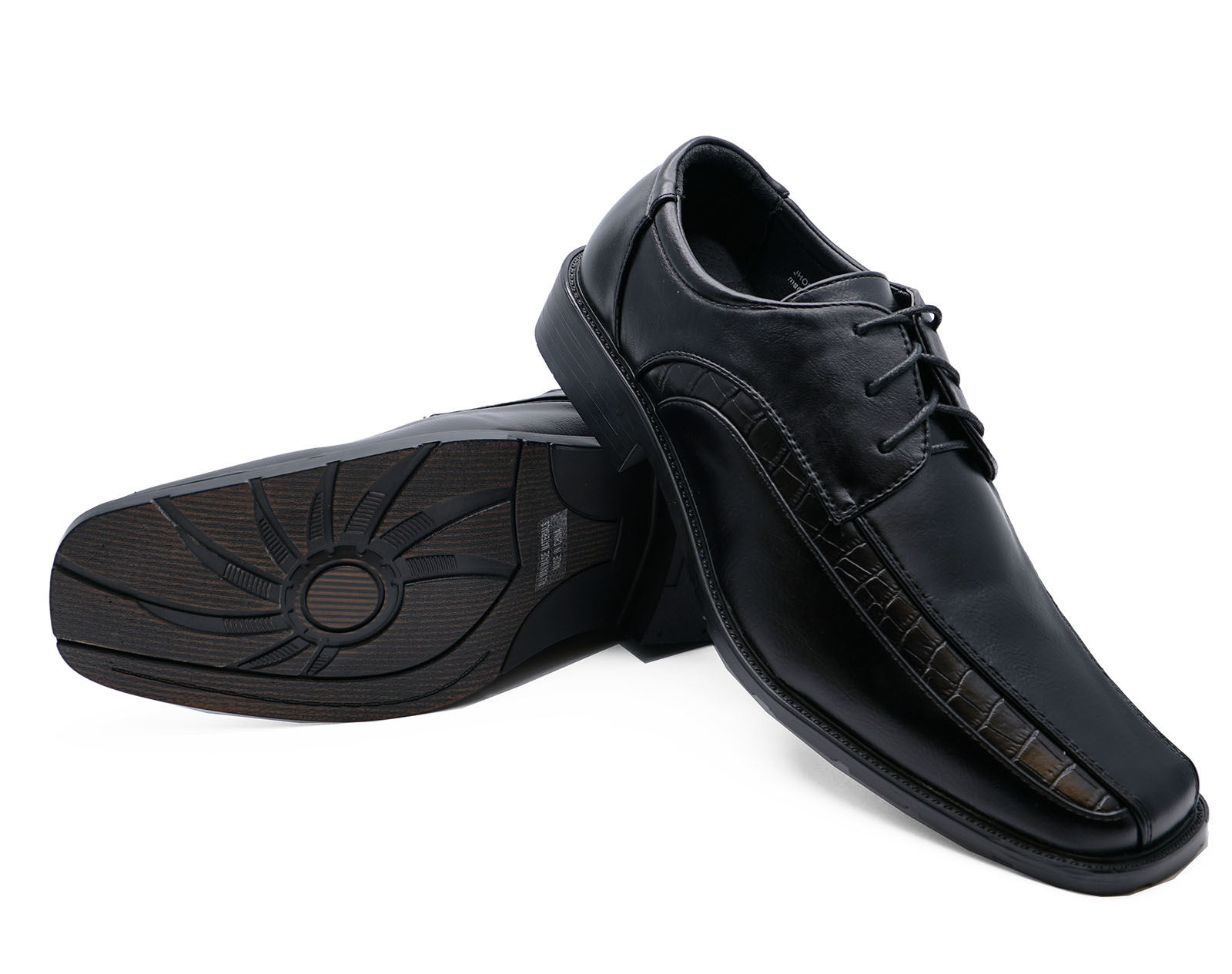 MENS BLACK LACE-UP WORK WEDDING SMART COMFY LOAFERS FORMAL SHOES SIZES 5-10