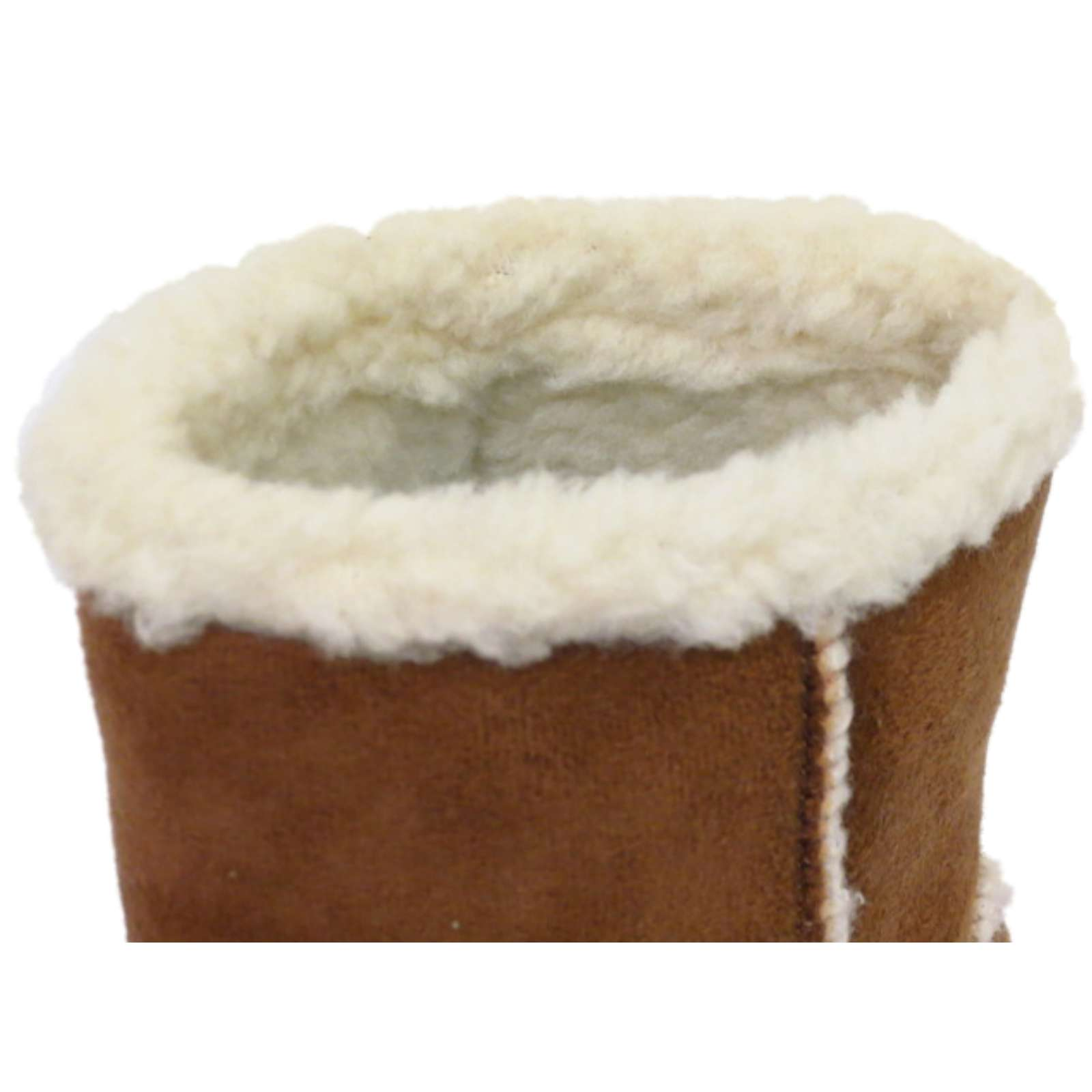 GIRLS KIDS TAN WARM SNUGG INFANTS WINTER FLAT FAUX-FUR LINED BOOTS SHOES 10-2