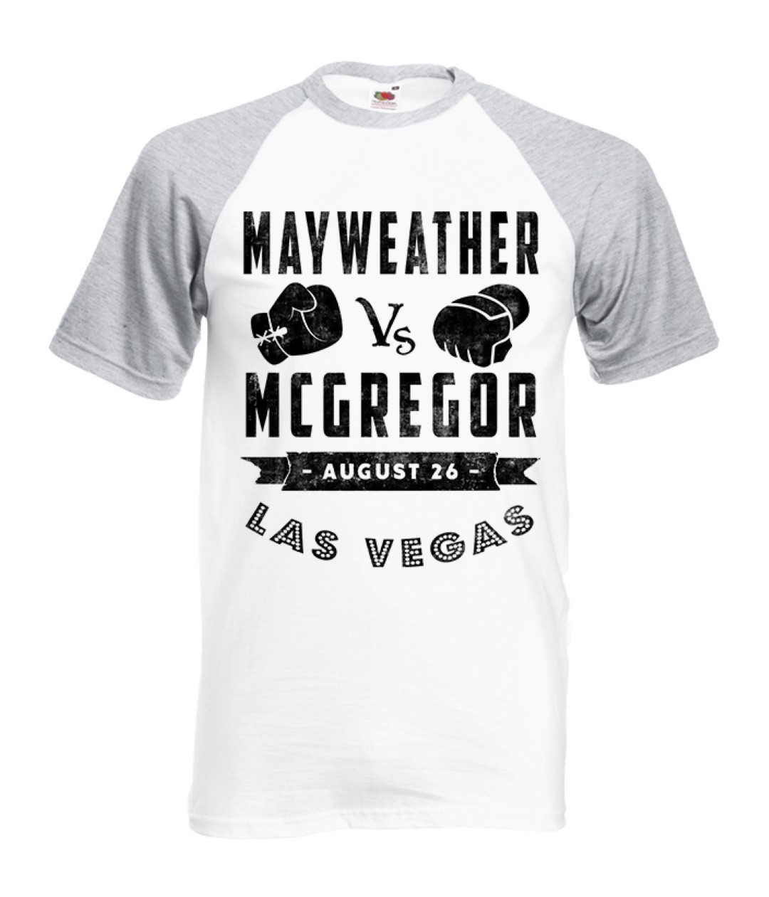 Mayweather vs mcgregor text t shirt august 26 las vegas for Photo t shirts with text