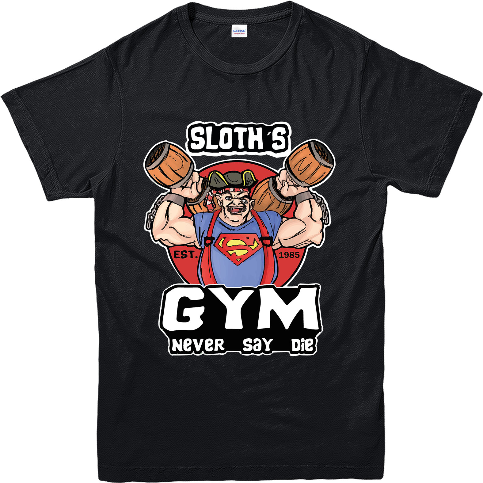 The goonies t shirt sloth gym t shirt inspired design for Best fitness t shirts