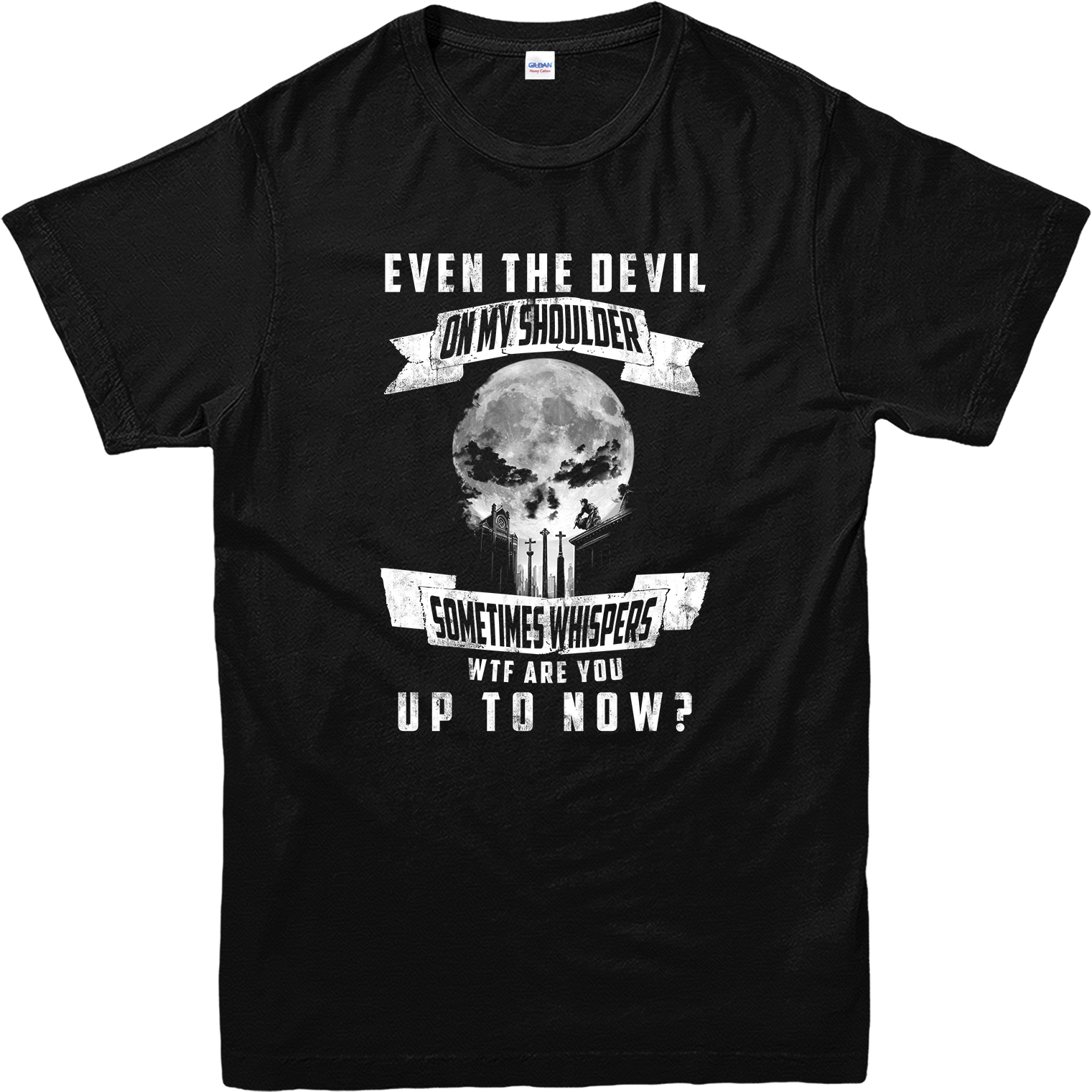 Black t shirt ebay - The Punisher T Shirt Even The Devil Quote Inspired Design Top Etdp