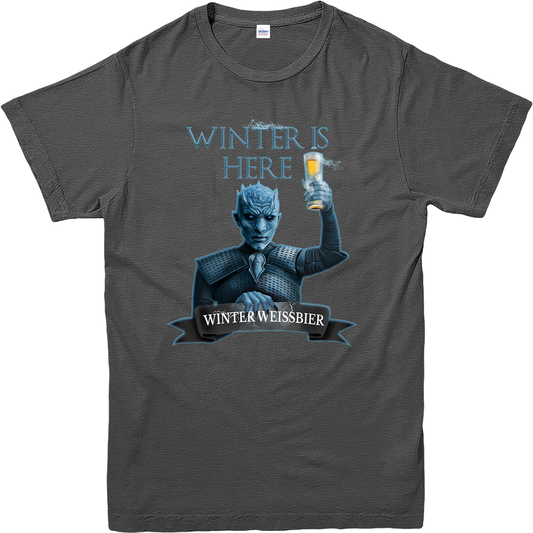 Game of thrones t shirt winter is here beer spoof t shirt for T shirt design game