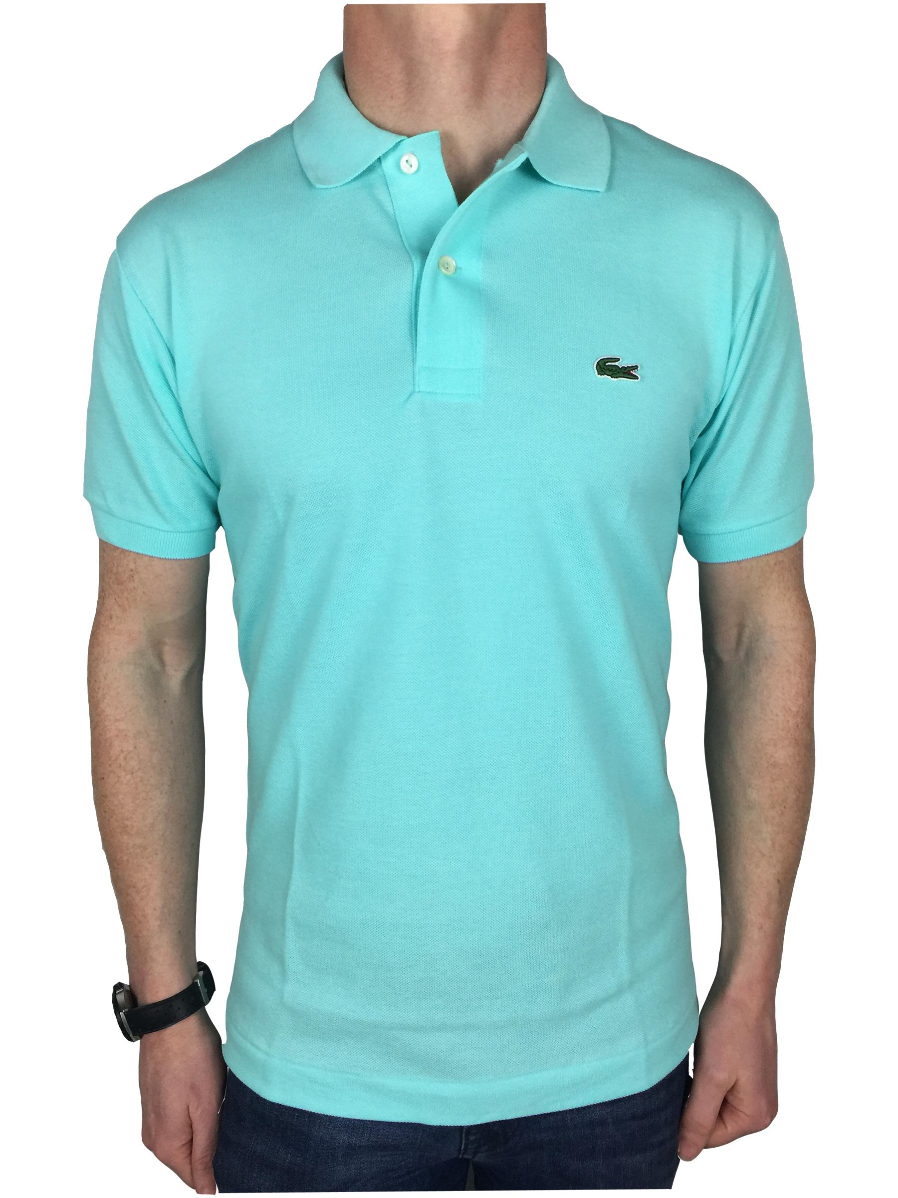 Lacoste mens s s logo branded polo shirt in eden green ebay for Lacoste polo shirts ebay