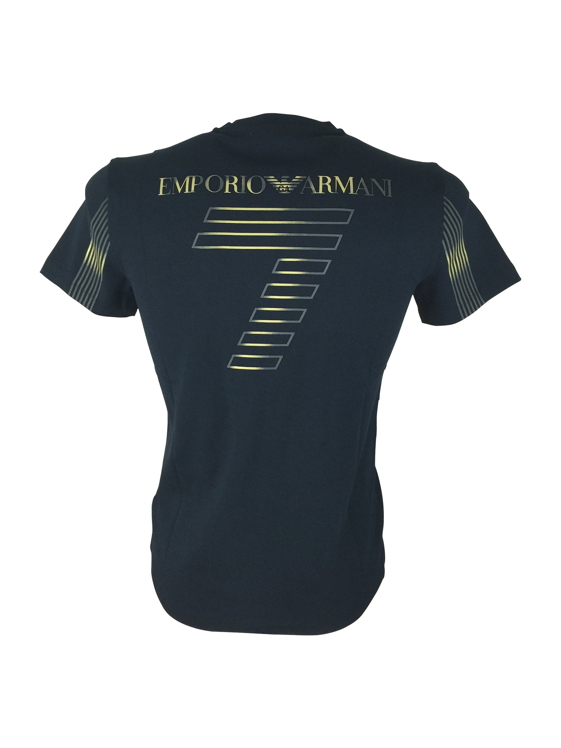 Emporio armani ea7 mens train soccer v neck t shirt tee for Tahari t shirt mens