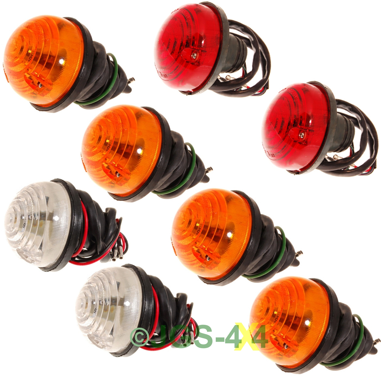 Pair Of Clear Front Indicator Lights For Land Rover: Land Rover Defender & Series Side Light Indicator & Tail