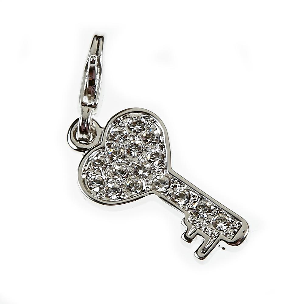 Swarovski Elements Heart Lucky 18th 21st Birthday Key
