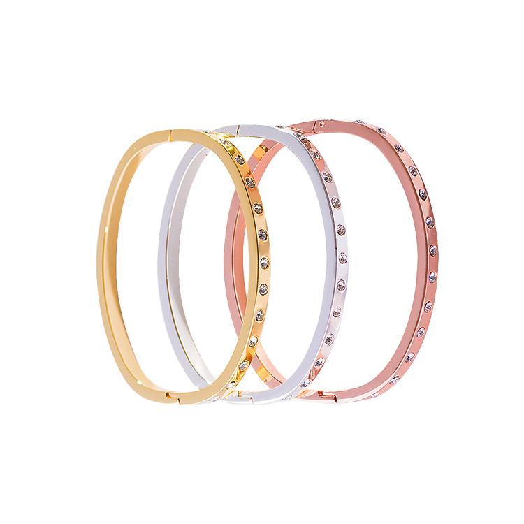 Andre Piasso Femmes Triple Bracelet Set Cristal Argent &