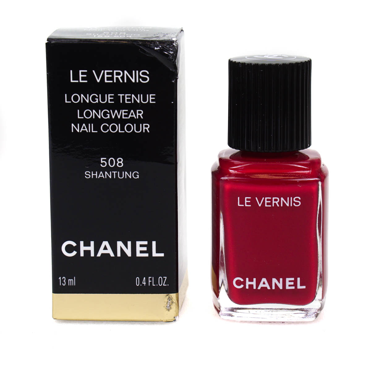 Chanel Le Vernis Berry Red Nail Polish Varnish 508