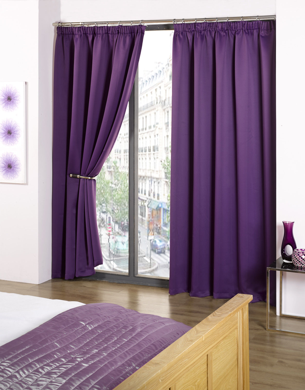Cali Eco Thermal Blackout Tape Top Curtains 45 Width X 90 Drop Ebay