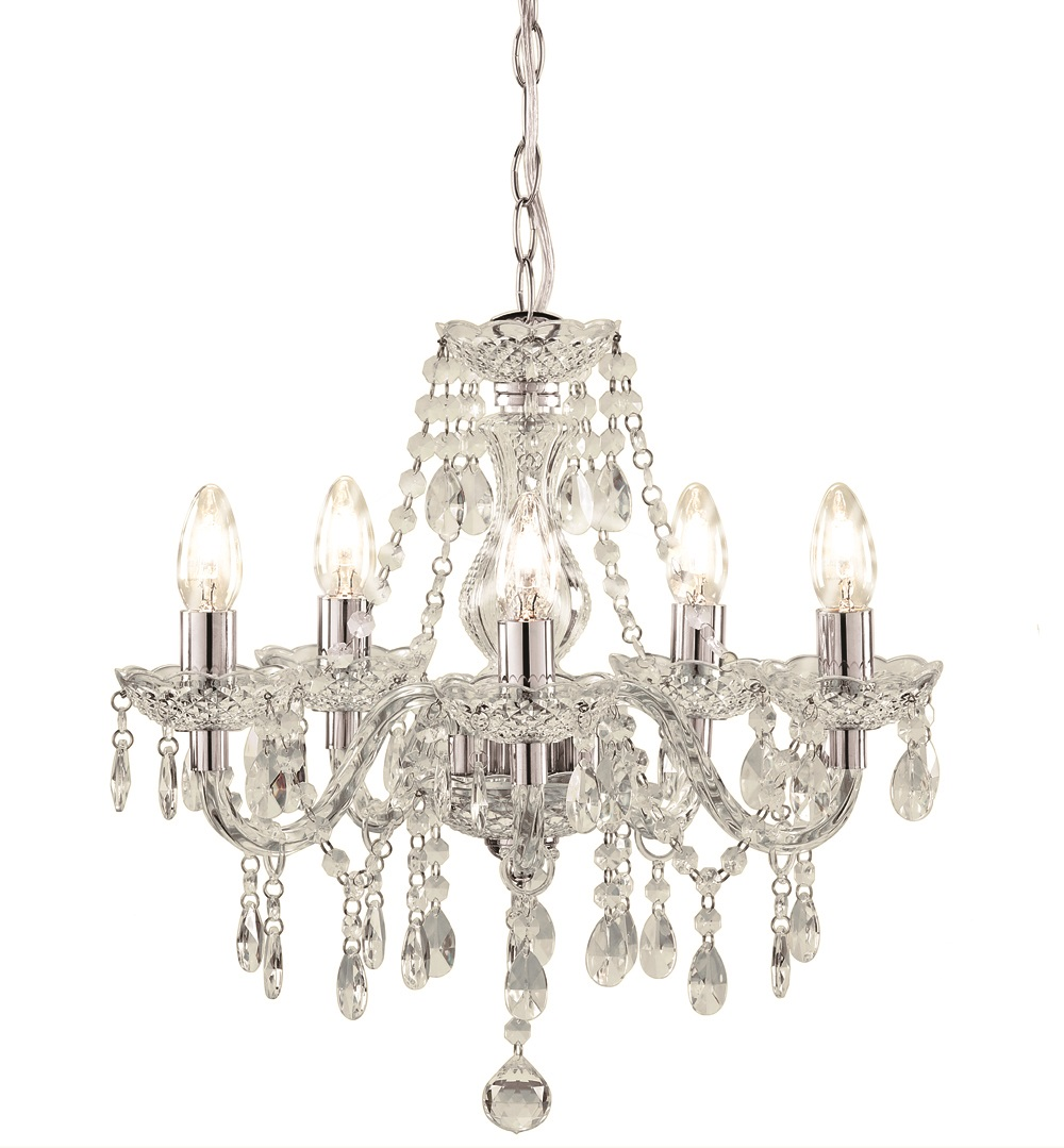 Kliving Tuscany 3 & 5 Ceiling Light Acrylic Droplets