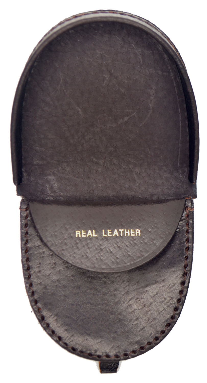 Mens Leather Tray Wallet Coin Purse Easy Access Loose Change /& Note Section
