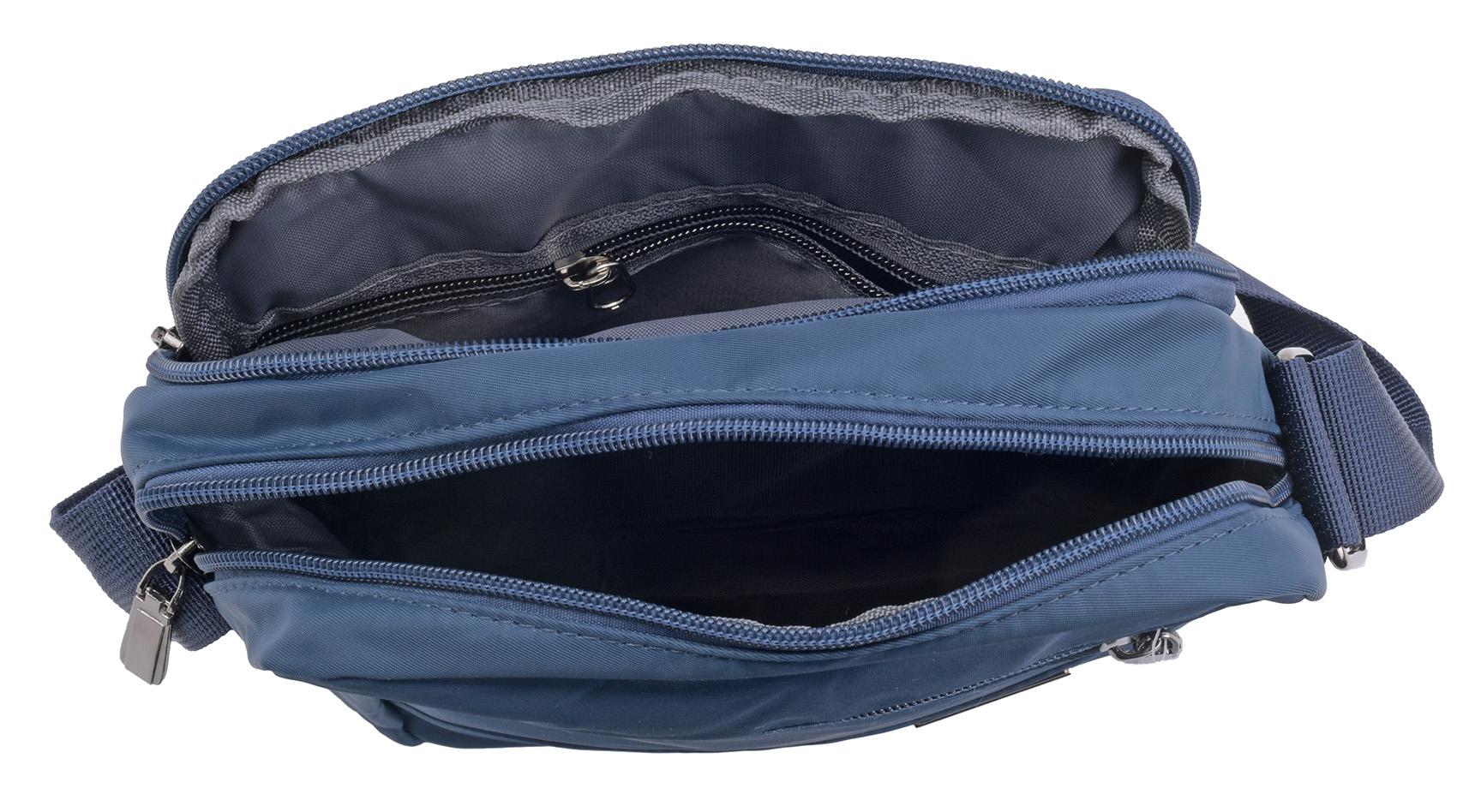 Multi Zip Travel Work Lightweight Cross Body Bag Handbag Manbag Womens Mens