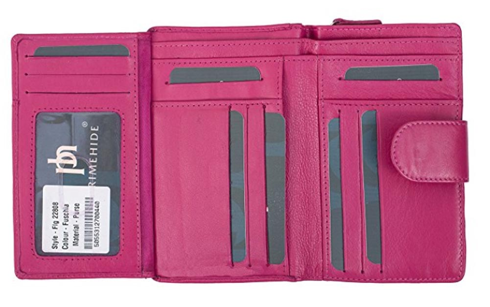 Ladies Womens Super Soft Large Genuine Leather Purse Wallet Zipped Coin Section