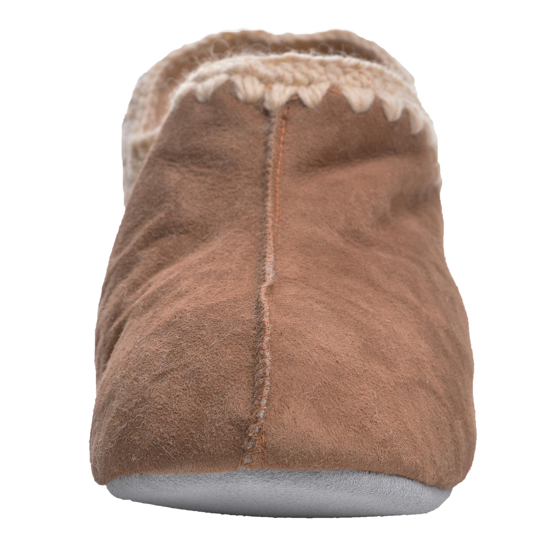 Donna Vera Morbida Pelle Di Pecora Reale Bootie Pantofole con Suola in Pelle Scamosciata Marrone Chiaro UK5 UK6 UK7 UK8