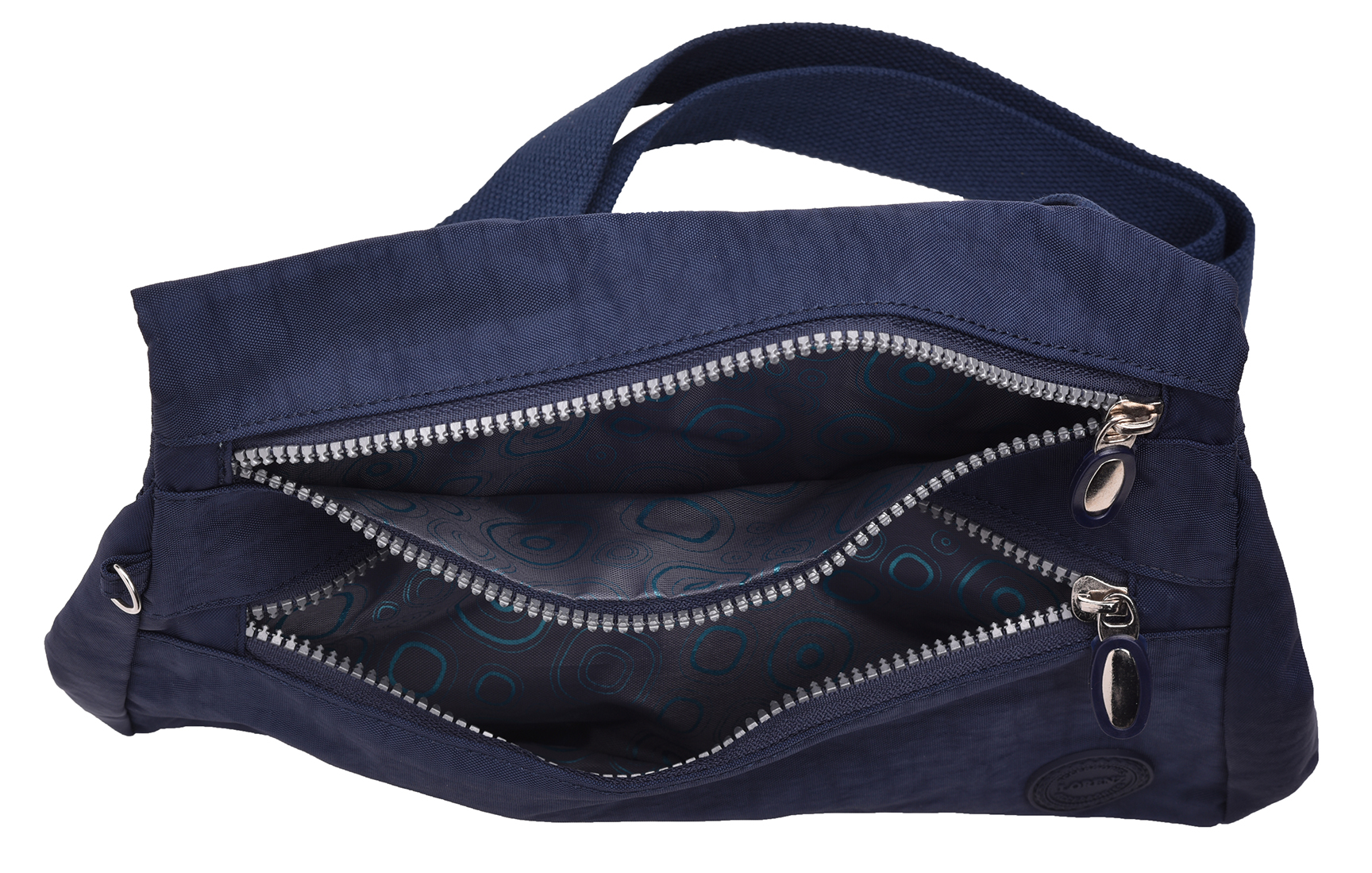 Ladies Lightweight  Triple Zipped Shoulder Cross Body Bag by Lorenz Mens