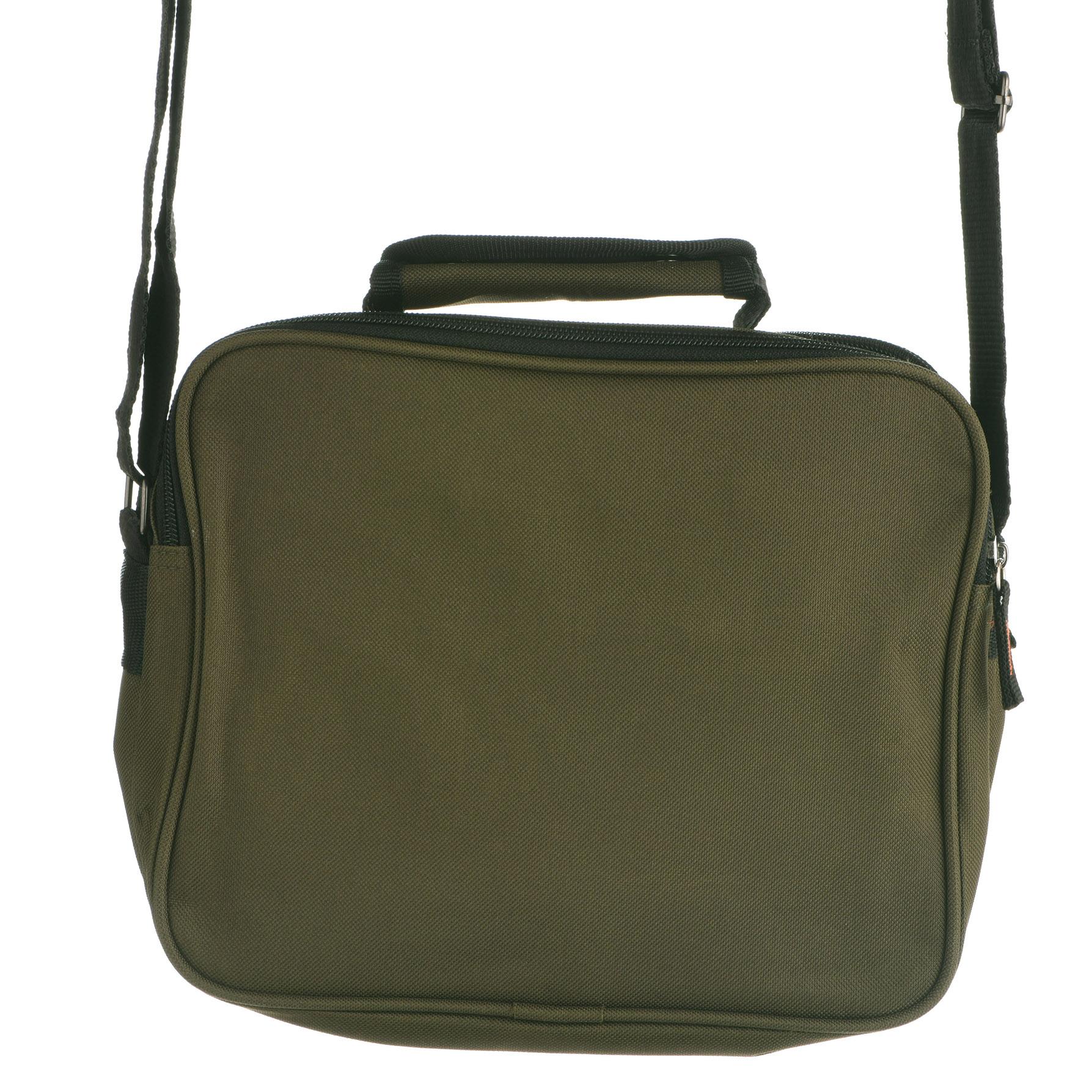 Canvas Multi-Functional Travel Camera Shoulder Bag with Grab Handle Black Green