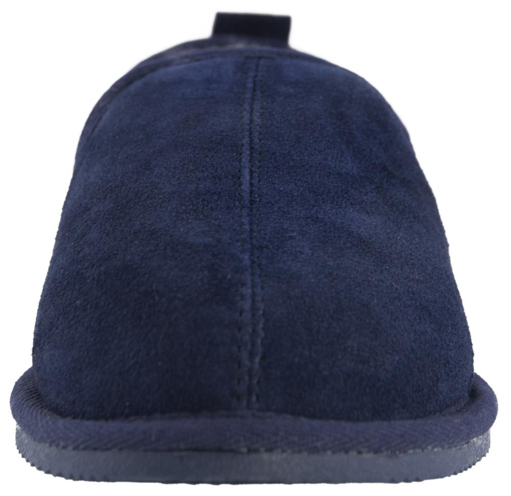 Hommes Luxe épais en peau de mouton Doublé Bottes Pantoufles Bottes dur Semelle Marron Bleu Marine