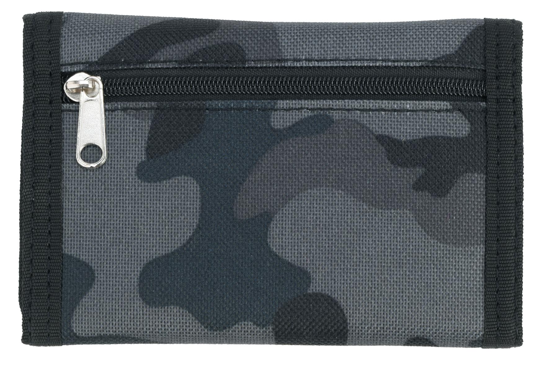 Da Uomo Ragazzi Stile Esercito Camoflague stampa su tela Ripper Portafoglio con zip Sezione Coin