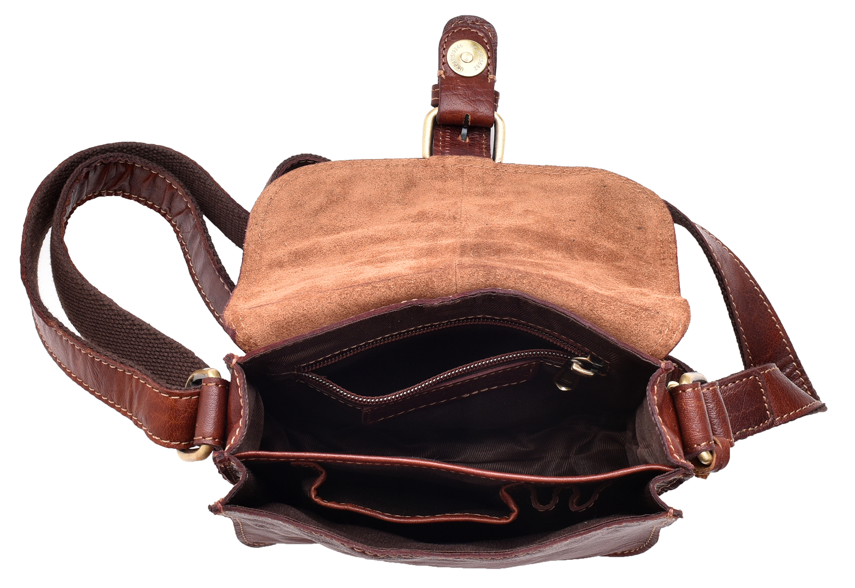 Ladies Womens Small Vintage Leather Hunter Style Shoulder Cross Body Bag Handbag