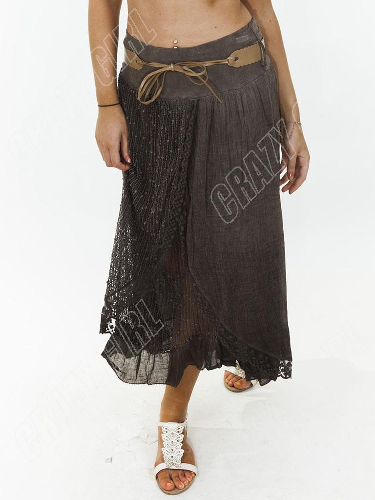 new womens lagenlook lace layer italian linen maxi