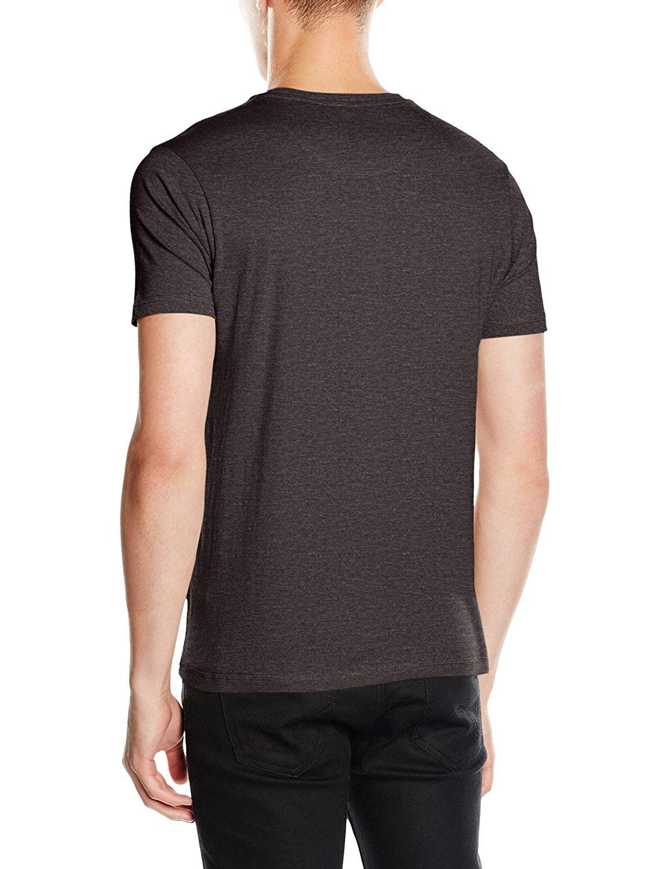 Homme Brave Soul Coupe Slim Manches Courtes T-shirt en coton Casual Col Rond Poche