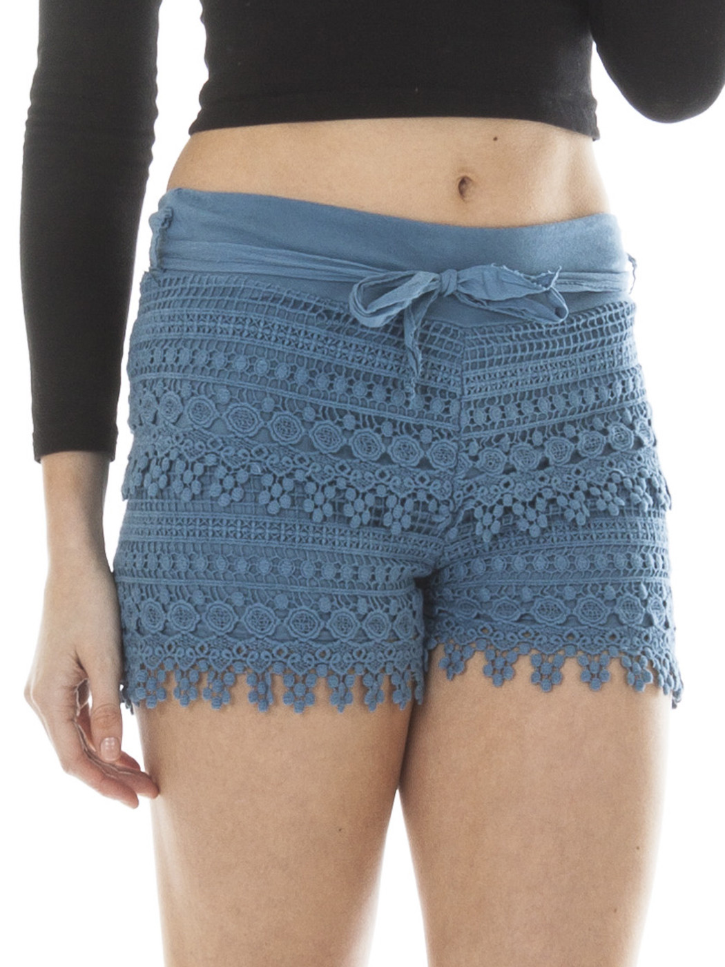 New Womens Ladies Summer Sexy Crochet Layered Lace Hot Pants ...