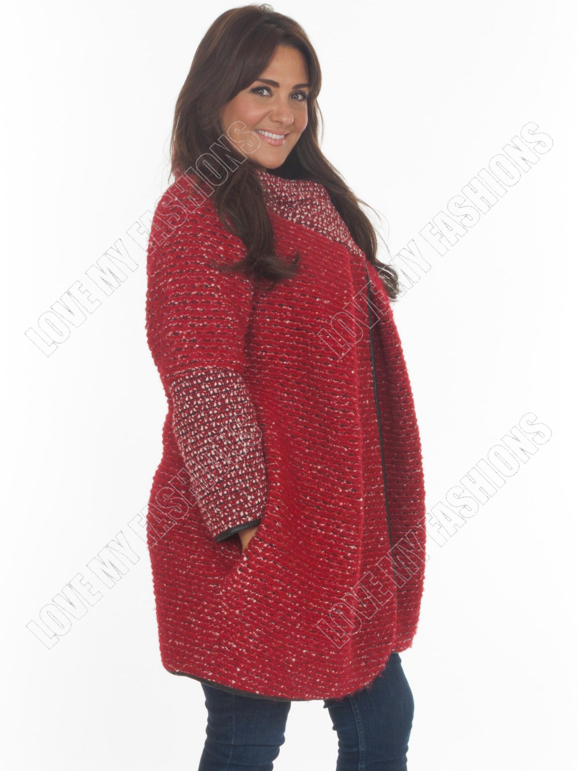 femmes lagenlook italien cape tricot hiver veste grande. Black Bedroom Furniture Sets. Home Design Ideas