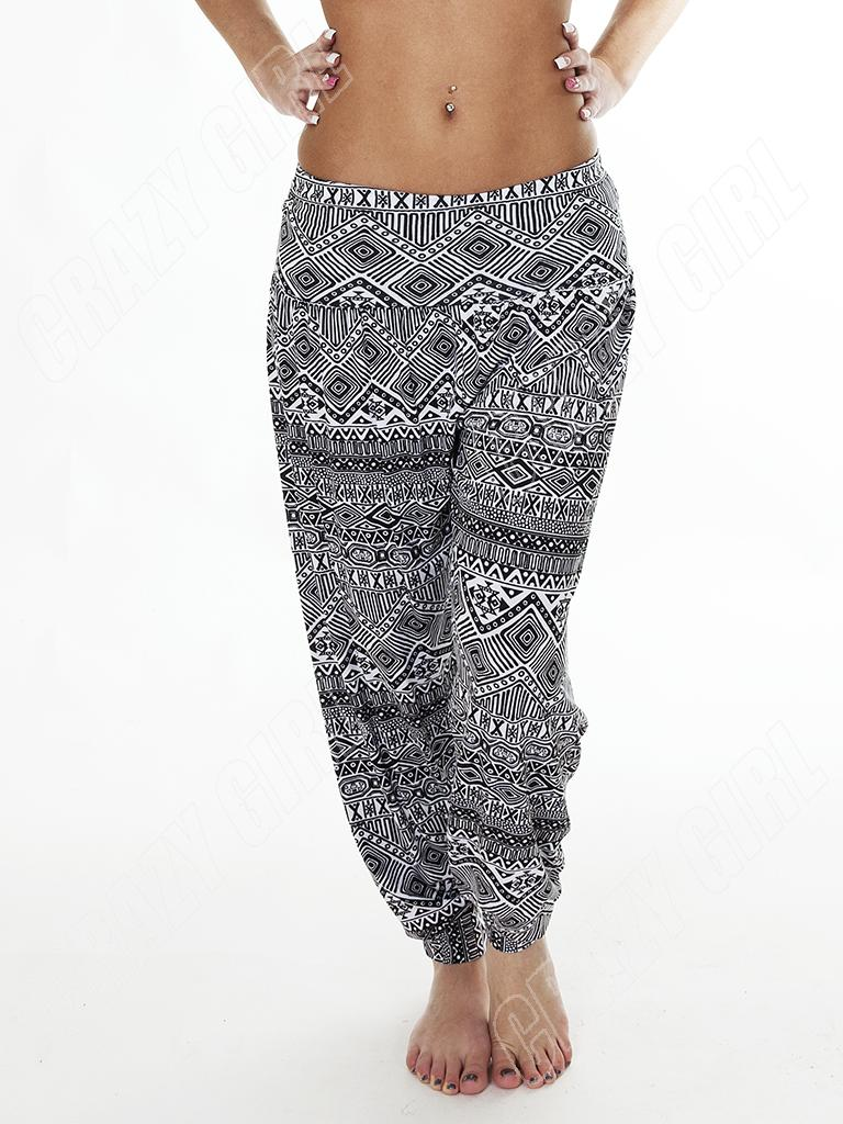 New-Womens-Ladies-Ali-Baba-Aztec-Print-Harem-Trousers-Pants-Size-S-M-L-XL-10-12