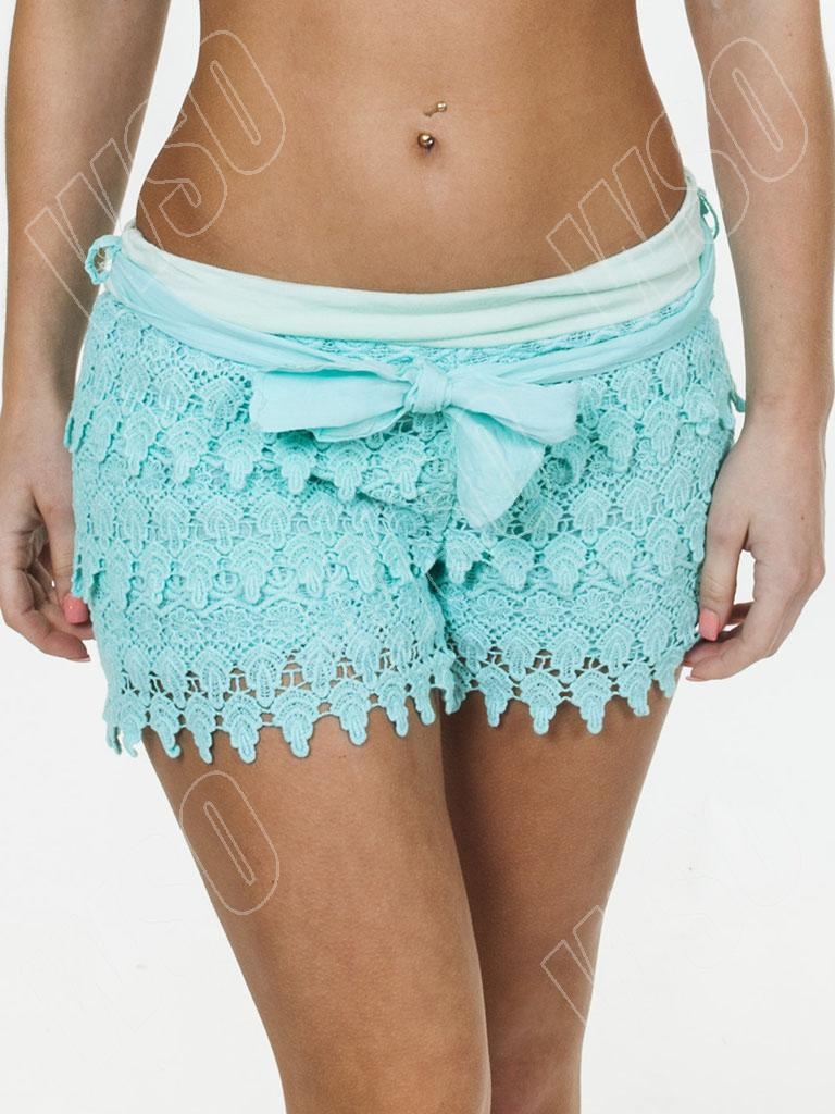 New Womens Ladies Layered Lace Vintage Hot Pants Summer Shorts ...