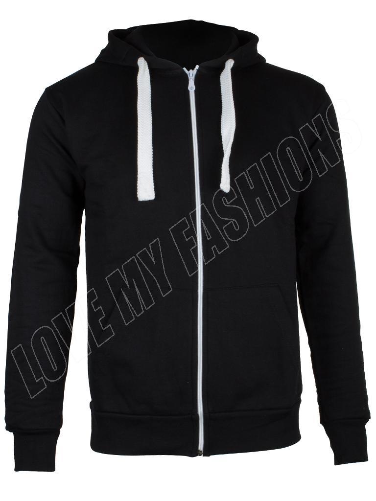 New-Mens-Plain-Marl-Patched-Zip-Fleece-Hoodie-Hoody-Sweatshirt-Size-S-M-L-XL-XXL