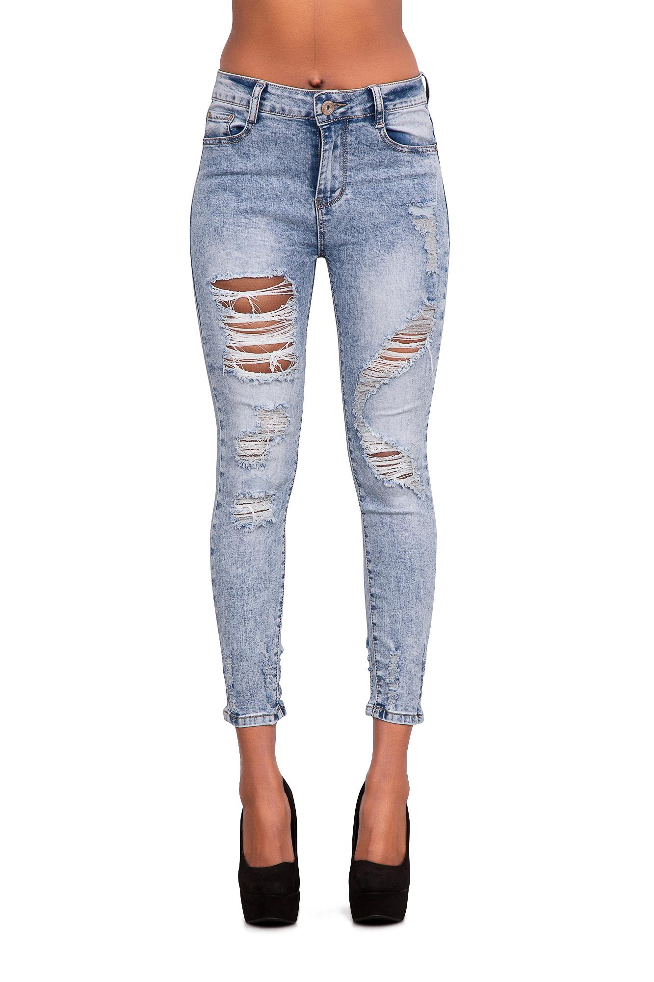 Womens-Ladies-Jeans-Ripped-Slim-Fit-Sexy-Slim-Skinny-Acid-Wash-Denim-Size-6-14