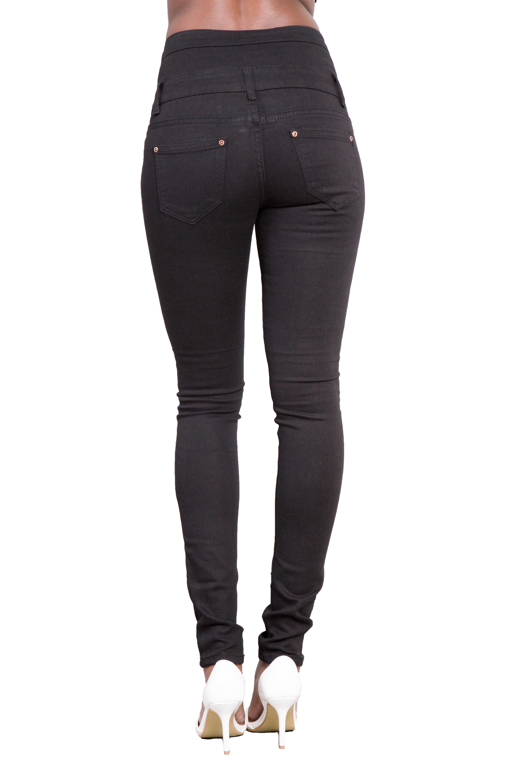 Femme Noir Sexy Jeans Moulant Femmes Taille Haute Pantalon Taille 34 36 38 40 14 Ebay