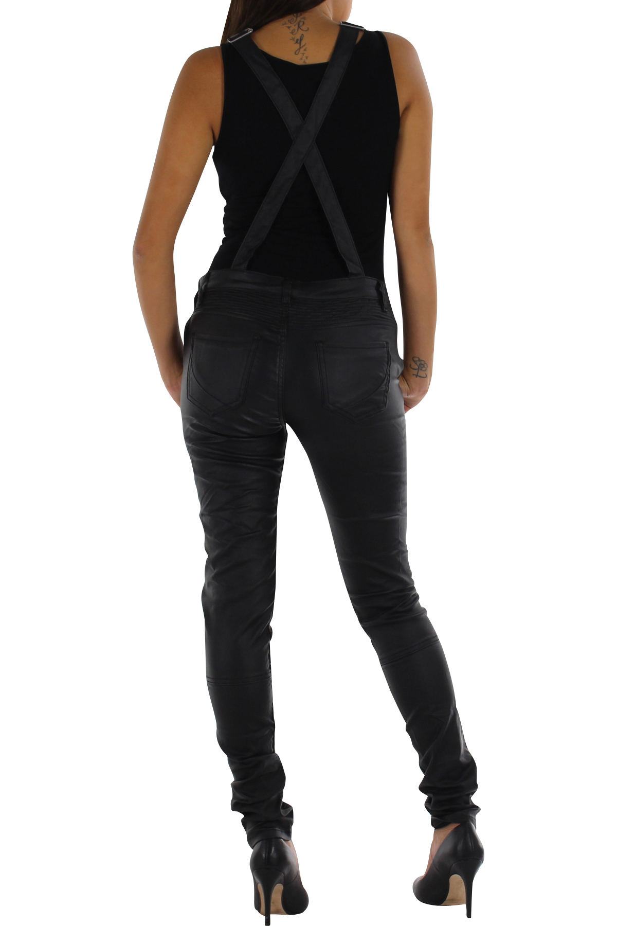 how to wear leather look trousers
