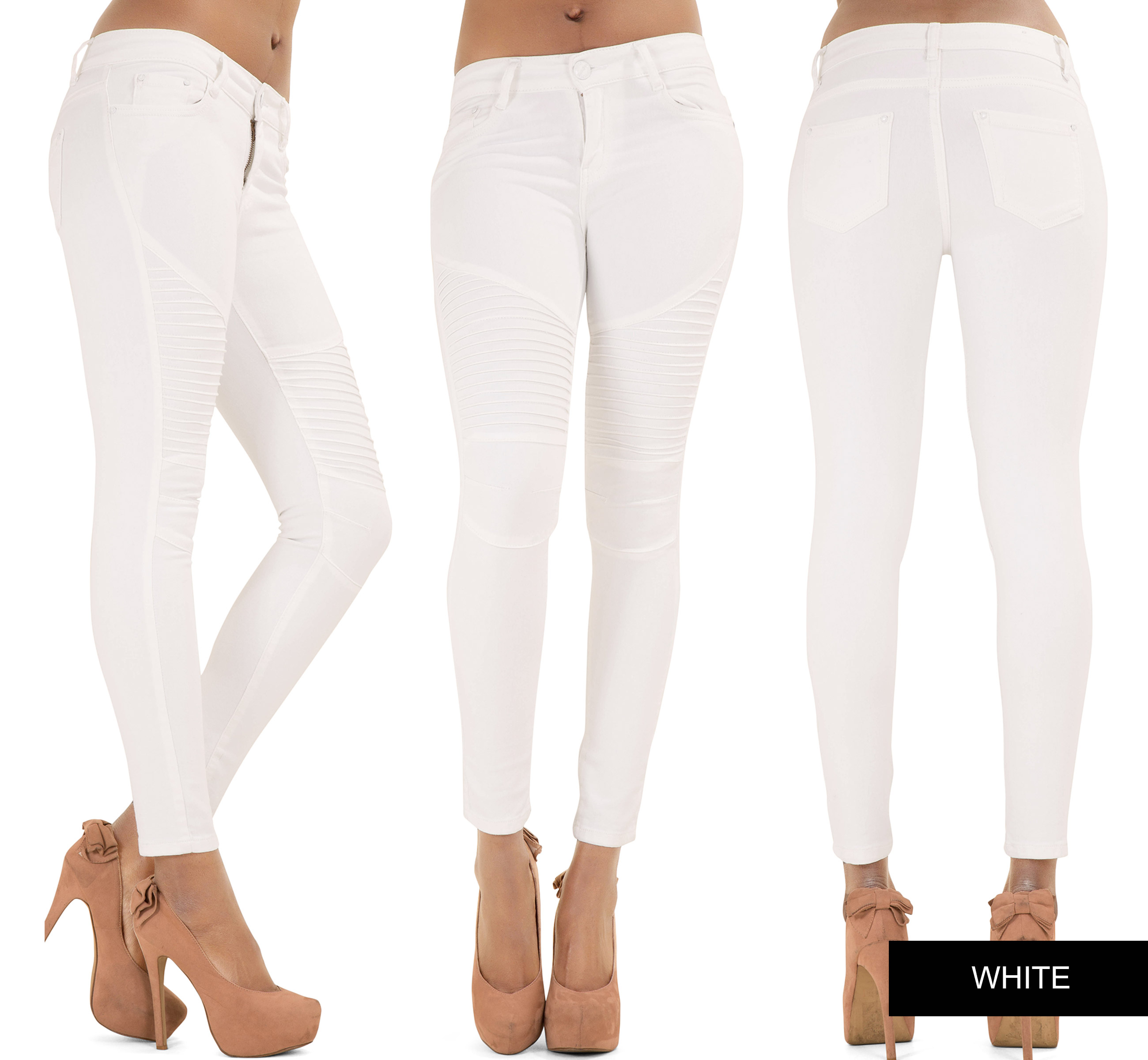 New Sexy Women Skinny Jeans Biker Look Ladies Slim Fit Trouser ...