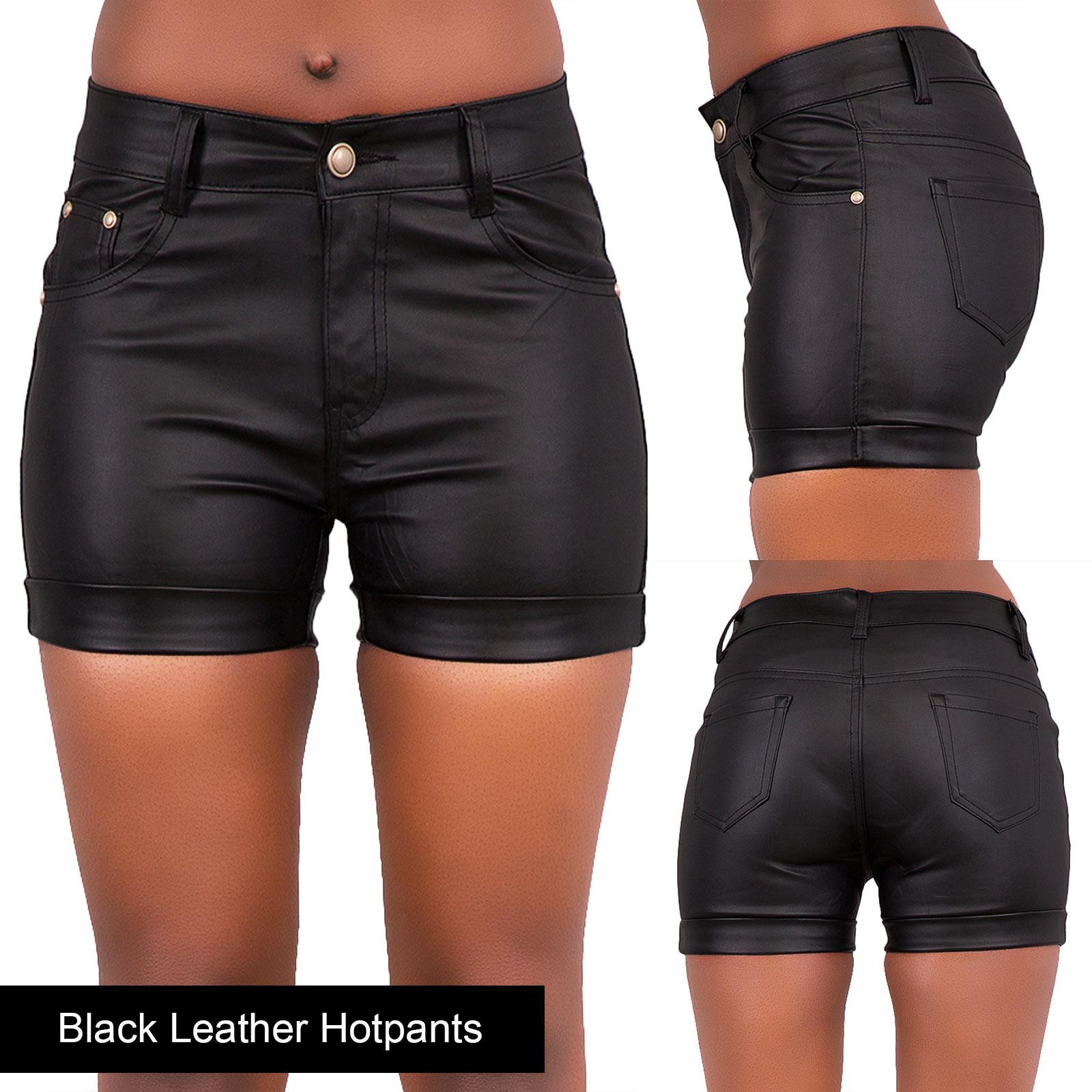 Women Ripped Denim Shorts High Waist Hotpants Ladies Stretch Jeans ...