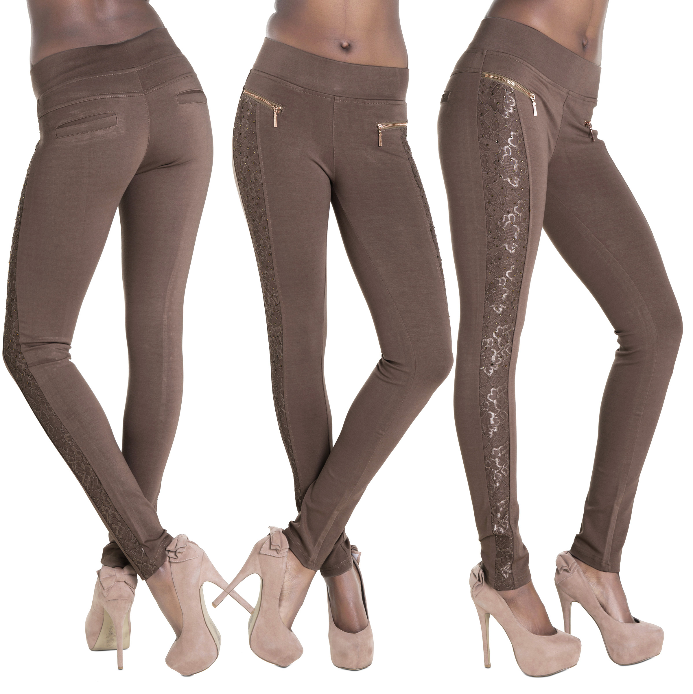 Try black high waisted leggings or white high waisted leggings to keep your stems lookin' slim! For short women's leggings, why not try slimming, petite leggings? Short girls should be careful about womens capri leggings, like crop leggings or short leggings! Tall girls, on the other hand, can rock black cropped leggings or white capri leggings.
