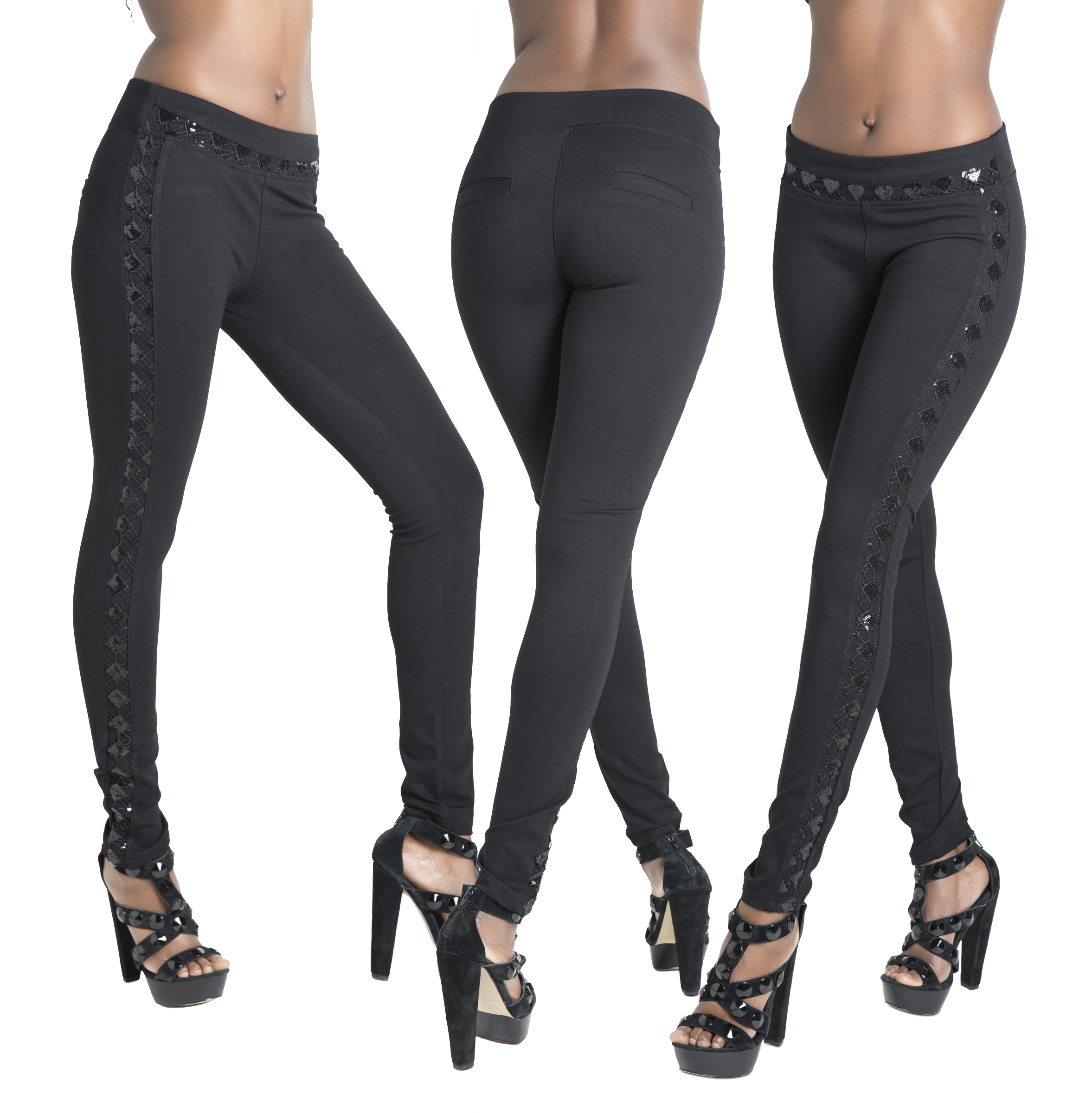 Womens Faux Leather Leggings Sexy Tight Fit High Waisted Pants - Pop Fashion See Details Product - High Waist Leather Skinny Leggings Pants Tights Full Treggings (L, Black).