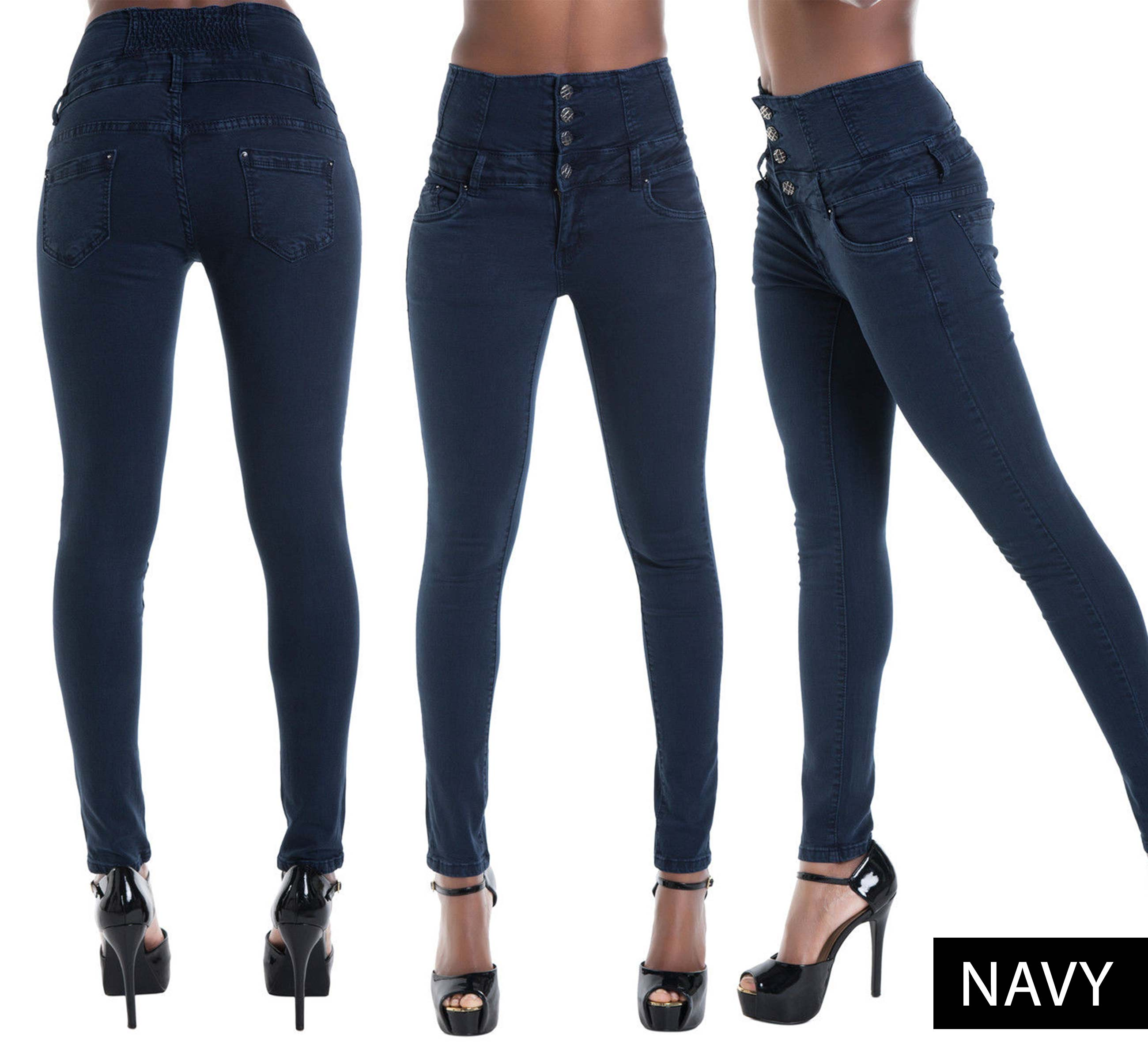 High waist denim skinny leg stretchy jeans size 6 8 10 12 14 ebay